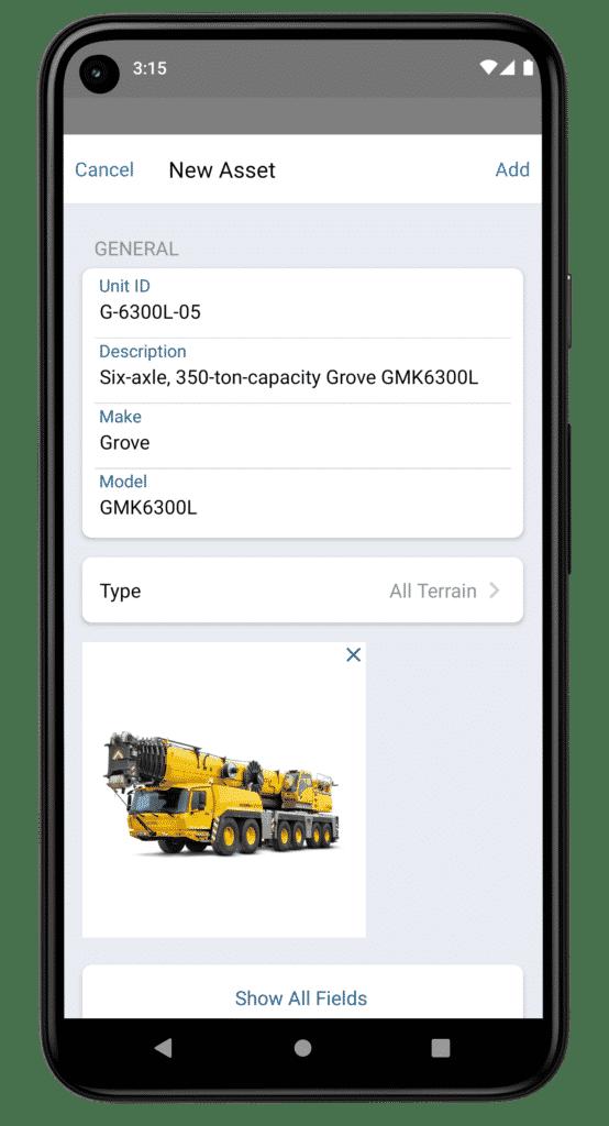 Redlist App on Pixel 5 New Asset Creation