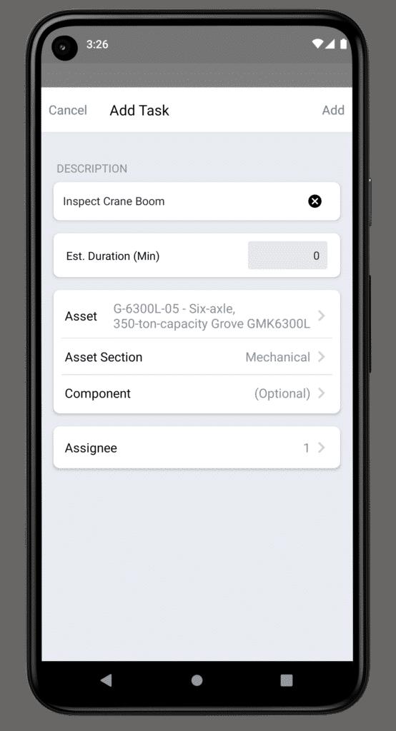 new task creation Redlist Android